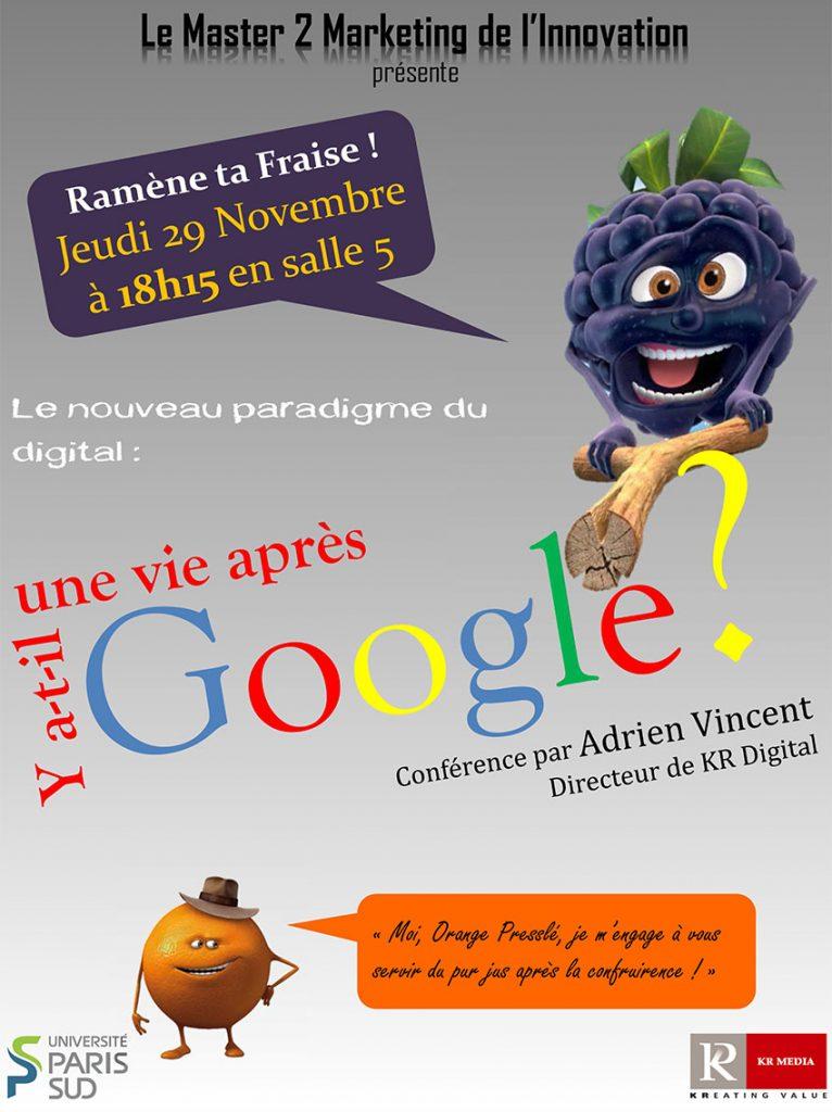 l'affiche de la conférence KR média